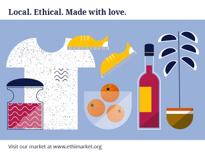 Online ethical market ethical business vector art illustration