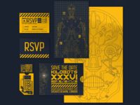 Kilobots invitation set