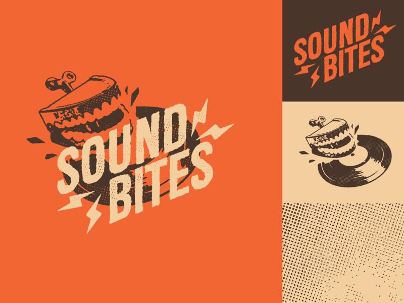 Sound Bites Record Cafe branding logo
