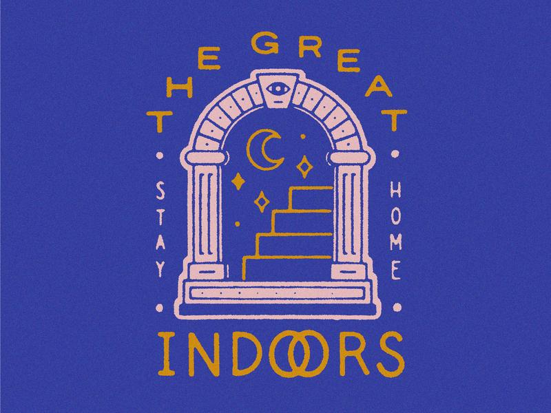 The Great Indoors handlettering illustration design