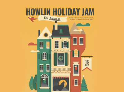 Howlin Holiday Jam Poster