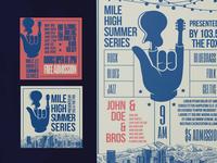 Mile High Summer Series Poster Design