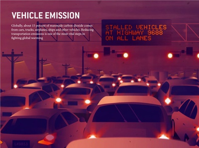 Carbon emission from vehicle