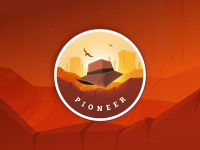 Gamification Badge - Pioneer