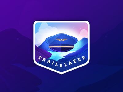 Gamification Badge - Trailblazer
