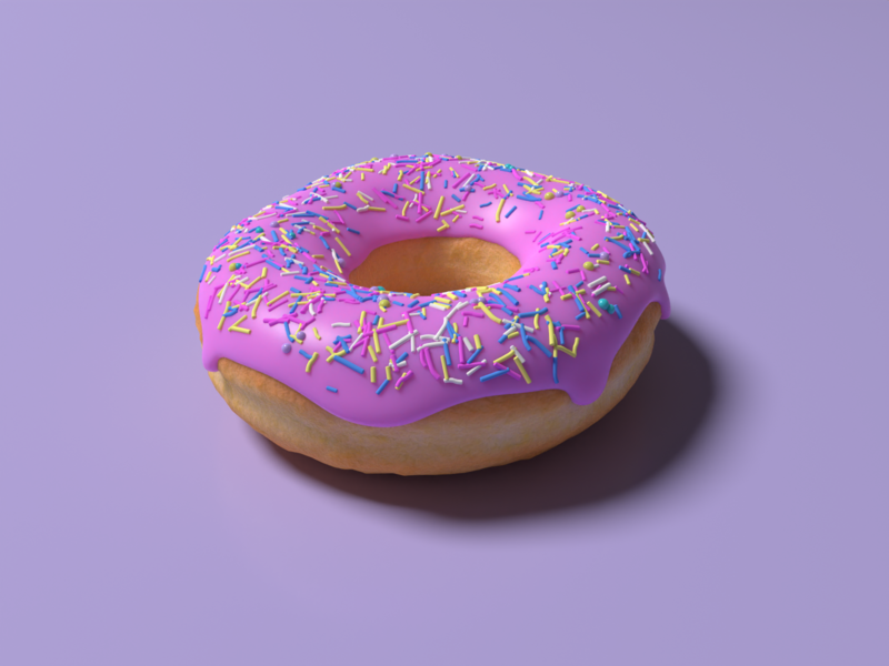 Donut - my first completed 3d project graphic beginner 3d donut
