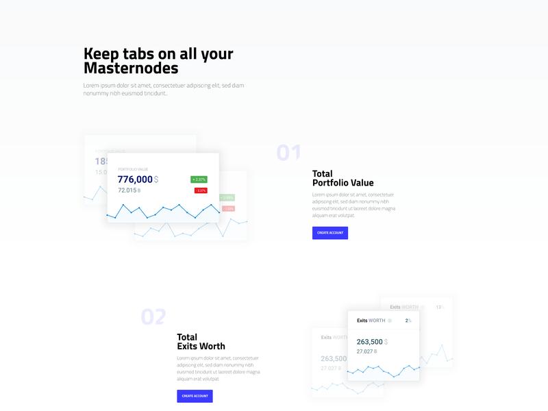 Gincoin platform presentation page