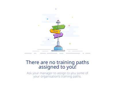 Training Paths - Empty State illustration for a LMS