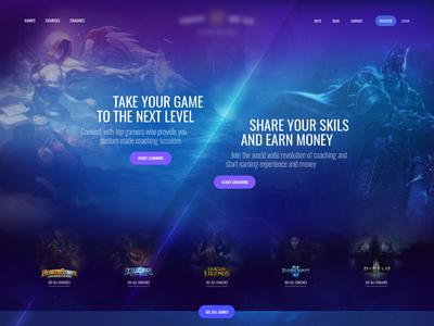 Game Coaching Homepage