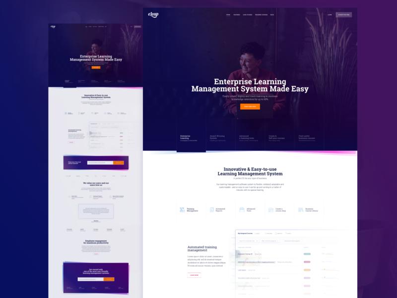 Presentation site design for eLeaP - Learning Management System