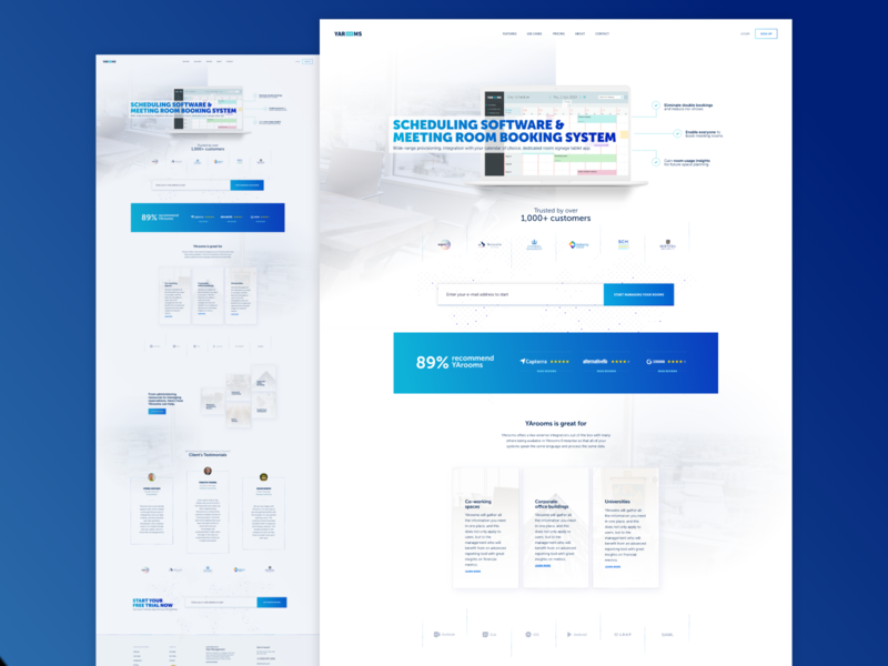 YArooms - presentation site redesign