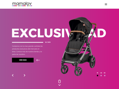 Baby - Products Landing Page design web ux ui
