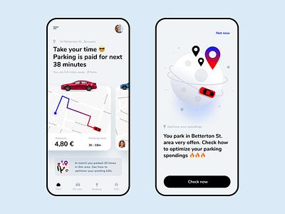 XPark - the ultimate parking app car mobile app clean dribbbleweeklywarmup 2020 trend minimalist product design illustration parking parking app dashboad mobile design app ui