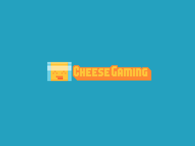 Cheese Gaming logo american cheese cheese slice pixel cheese
