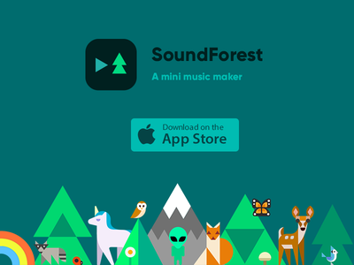 SoundForest: A mini music maker step soundforest sound song sequencer music maker make iphone forest composer app