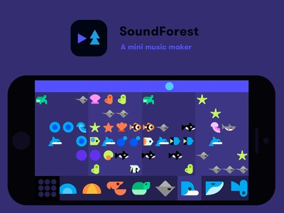 SoundForest: A mini music maker step sequencer music vector iphone ios indie game