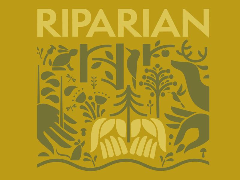 Riparian graphics outdoors vintage illustraion branding nature