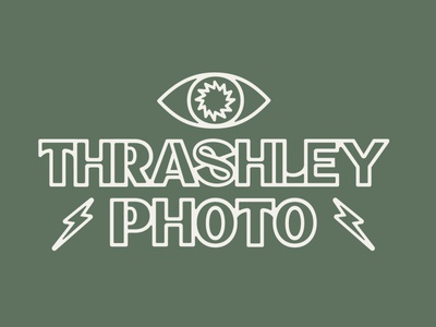 Thrashley Photo wordmark photography vector design digital branding self promotion