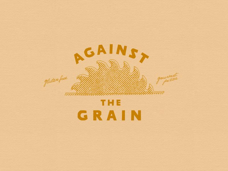 Against the Grain Pizza sun grain pizza logo branding food