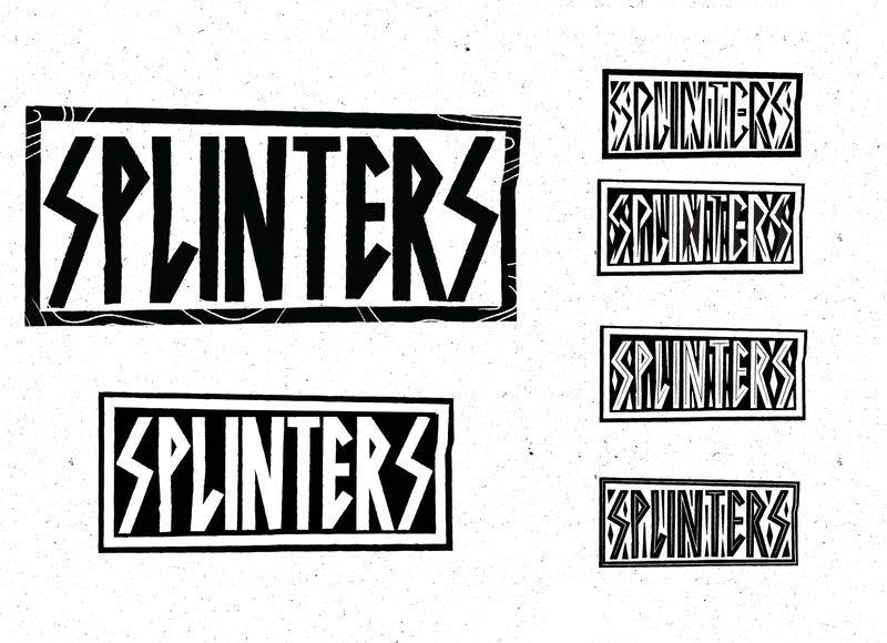 Splinters Boardshop logo branding typography skate logo
