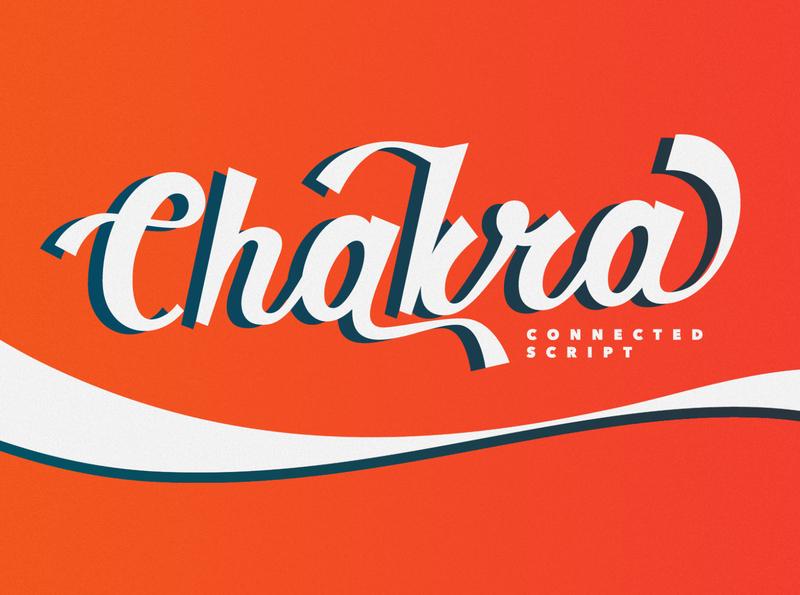 Chakra 1 card invitation type script webfont calligraphy family typeface font