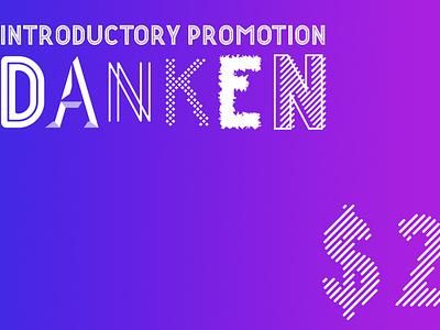 Danken str 6 birthday display title logo typography signature webfont calligraphy family typeface font
