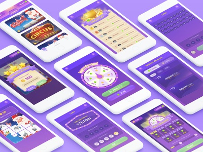 Lottery game purple game ui app