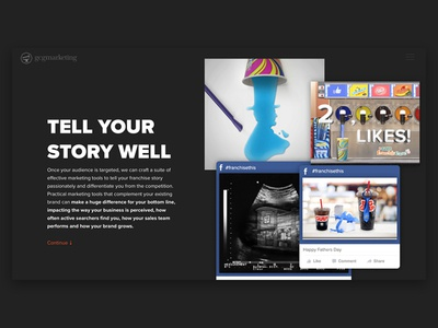 GCG Marketing Franchise Landing Page