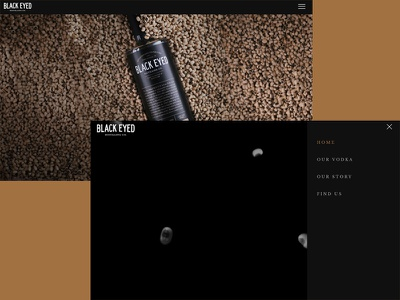 Black Eyed Distilling Co Website video dark custom wordpress theme website