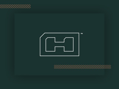 Hdz Concrete Outlined Logo icon outlines logo