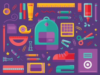 Back to School supplies school shopping gear