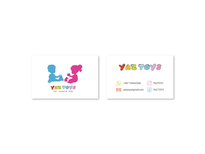 YAZ TOYS | Card colorful toys kids ui typography identity brand illustration design