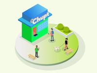 Chupt hub illustrations.