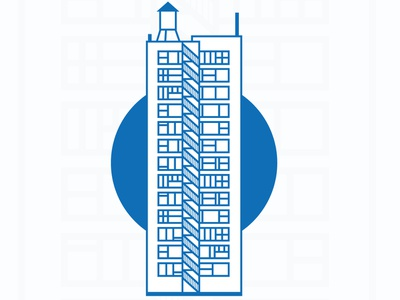 Entire view of building illustration graphicdesign layout design artdirection illustration graphic design logo creation