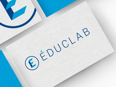 Educlab logo mock up logo process art direction print design logo design