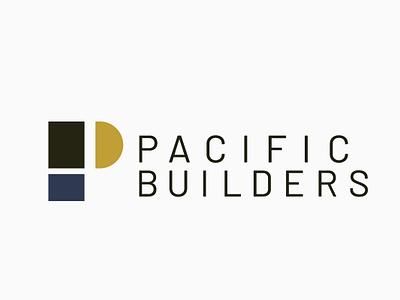 Pacific Builders Logo Concept graphic designer designer creative direction art director logo designer logo design