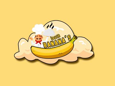 LOGO IEUTH BANANA'S chef bananas design icon vector logo adobe photoshop