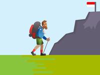 Illustration Mountain Climber