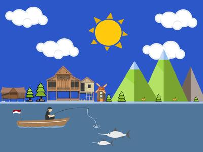 Illustrasi Rural Nature illustration vector photoshop