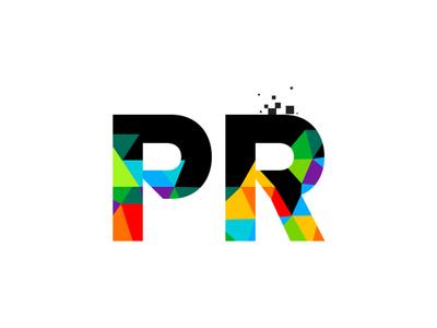 LOGO PR design icon logo photoshop