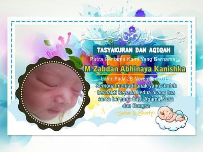KARTU AQIQAH blue baby flowers kartu aqiqah coreldraw adobe illustrator icon design adobe photoshop