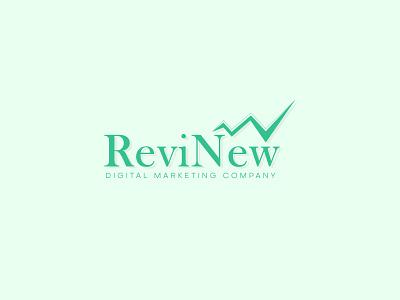 ReviNew | Logo Design business logo business company brand logo company logo marketing digital branding illustration minimalist logo logo design graphic design design