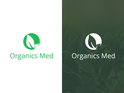 Organics Med | Logo Design company medical natural logo design graphic design vector branding logo design