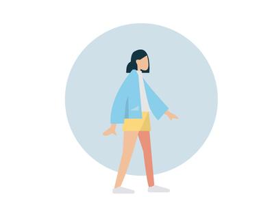 woman humaaans style illustration 2