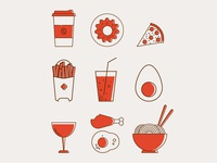 Foods Icon set