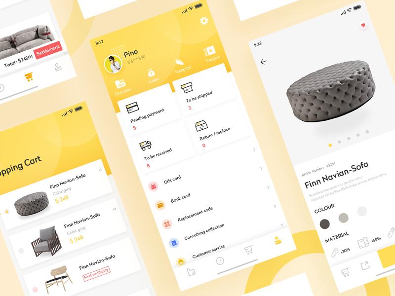 Furniture app interface 练习 app