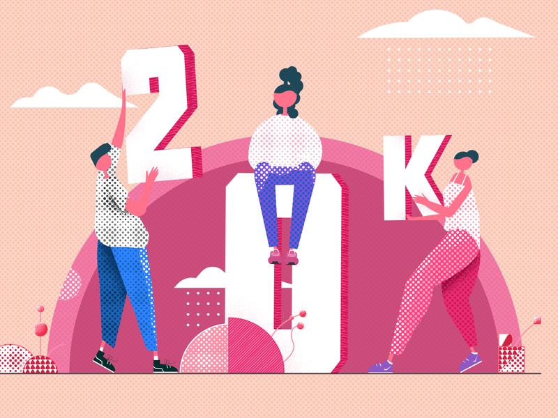 20k people illustration 20k