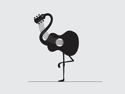 Flamingo + guitar