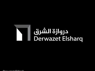 Derwazat Elshark logo flat mark logo icon branding logo icon inspiration islam-biko logo icon graphics creative