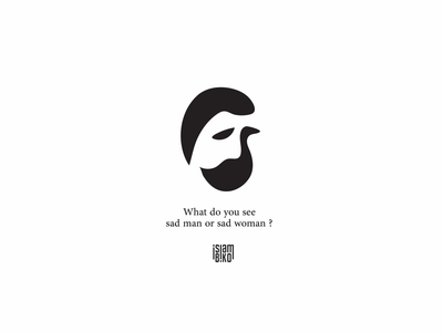 What do you see sad man or sad woman??